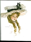 Harrison Fisher Print: Country Victorian Lady: Big Lace Hat; Youth