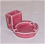Pink Pottery Ash Tray/ Match Holder