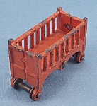 Kilgore - Cast Iron - Dollhouse Furniture - Baby Crib / Cradle / Bassinet - Orange