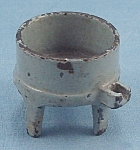 Kilgore - Cast Iron - Dollhouse Furniture - No. T.-24 - Toy Washing Machine Tub - Gray