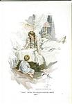 Harrison Fisher Print Boy & Mother Victorian Bedroom
