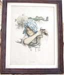 Harrison Fisher Prints: Hey There Victorian Country Girl, Horse, Farm