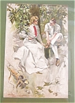 Vintage Harrison Fisher Print Match Play Victorian Golf Golfers