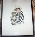 Antique Harrison Fisher Cosmo Print Jack Russell Terrier Dog