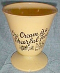 Rare Dairy Guild Advertising Sundae Bowl Hazel Atlas Free Shipping