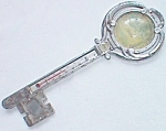 Vintage Souvenir Thermometer Compass Key Shaped
