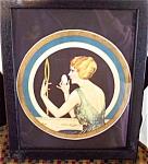 Original Vintage Coles Phillips Print: Art Deco Lady At Vanity