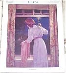 Vintage Life Magazine Bedroom Vanity Print Lady Sleeping Bonnet
