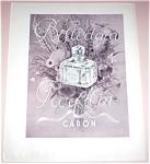Vintage Shabby Perfume Ad Bellodgia Caron Parfum