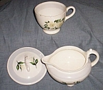 Homer Laughlin Nautilus Creamer Cup Lid White Rose