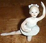 Enesco Porcelain Ballerina In Kneeling Position