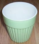 Hazel Atlas Mint Green Fired On Pot