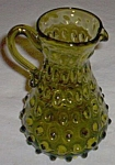 Vintage Hobnail Art Glass Pitcher