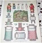 Vintage Paper Dolls Uncut Goldilocks Helen Pettes Old