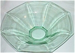 Lovely Octagon Flare Panel Green Depression Bowl