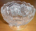Higbee Small Footed Bowl Floral Oval