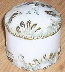 Antique Dithridge Puff Box Fan And Scroll