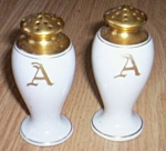 Antique Porcelain Shaker Monogrammed A Free Shipping