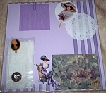 Victorian Ladies Lavender One Of Kind Scrapbooking Kit Set