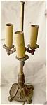 Antique Solid Brass Rembrandt 3 Bulb Lamp
