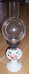 Lovely Milk Glass Hurricane Style Elec Lamp