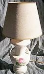 Vintage Small Lamp Rose Transfer