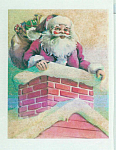 Vintage Santa Claus Christmas Eve Fabric Squares Quilt Blocks