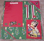 Vintage Christmas Original Pre-made Scrapbooking Page