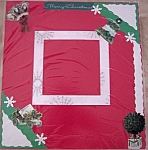 Vintage Christmas Pre-made Scrapbook Memory Page