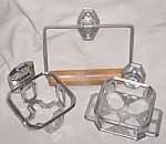 50's Chrome Bathroom Fixture Set