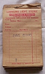 Receipt Book Linnums Dept. Store 1940's