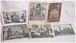 6 Vintage German Postcards Architectural Pictures