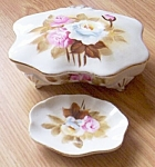 Porcelain Hand Painted Ucagco Trinket And Pin Dish