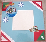Christmas Reindeer Original Pre-made Scrapbook Memory Page