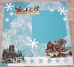 Old Fashioned Victorian Christmas Pre-made Scrapbook Page