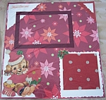 Vintage 1950's Christmas Puppy Dog Pre-made Scrapbooking Page