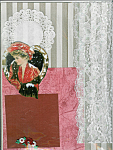 Victorian Lady, Snow Scene Scrapbooking Set One Of A Kind
