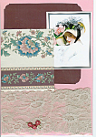 Victorian Lady, Pink Rose Hat Scrapbooking Set One Of A Kind