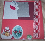 Vintage Christmas Santa Kittens Scrapbooking Set 1 Of A Kind