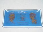 Charles & Diana Cobalt Blue, Gold Trim Dish - Rare