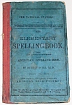 1880 Elementary Spelling Textbook By Noah Webster Hb