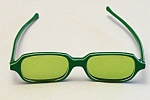 Kono Usa Sunglasses Laminated Green/white Thermoplastic