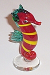 Art Glass Ruby Red Sea Horse Figural 3'