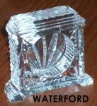 Waterford Table Clock Avillion Pattern Full Lead Crystal 3 In.