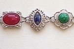 "Sarah Coventry Bracelet Silvertone 7 Link 7.5"""
