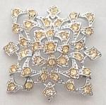 "Sarah Coventry Silvertone Pin Snowflake Design 2"" 1969"