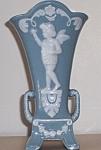 "Mij Wedgewood Style Cameo Grecian Urn 6.5"" Vase 1950s"