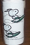 "Surfing Snoopy Glass Kraft Foods 5.5"" 1988"