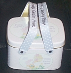 Enesco Precious Moments Happy Easter Tin W/handles