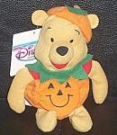 Pumpkin Pooh 8 In. Bean Bag Wdc Disney Store 1990s
